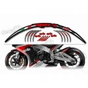 Kit Adesivo Friso Refletivo Roda Moto Aprilia Fri02 Decalx