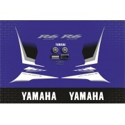 Kit Adesivo Yamaha Yzf R6 R6s 2006 Azul Yzfr601