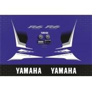 Kit Adesivo Yamaha Yzf R6 R6s 2009 Azul Yzfr601