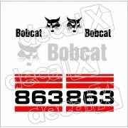 Kit Adesivos Bobcat 863 Decalx