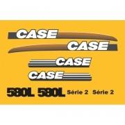 Kit Adesivos Case 580l Serie 2 - Decalx