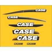 Kit Adesivos Case Cx220b - Decalx