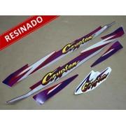 Kit Adesivos Crypton 1997 À 1998 Vermelha Resinado
