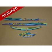 Kit Adesivos Crypton 1999 Azul Resinado