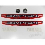 Kit Adesivos Crypton 2010 À 2011 Vermelha Resinado