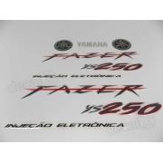 Kit Adesivos Fazer 250 2008 Preta Resinado