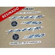 Kit Adesivos Fazer 250 2009 Prata Resinado