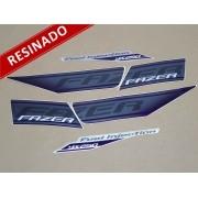 Kit Adesivos Fazer 250 Especial 2011 Roxa Resinado