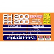 Kit Adesivos Fiatallis Fh 200 Fh200