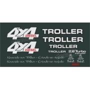 Kit Adesivos Resinados Troller 2000 Diesel Verde