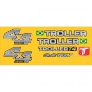 Kit Adesivos Resinados Troller 2013 Amarelo Trl13