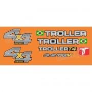 Kit Adesivos Resinados Troller 2014 Laranja Trl13