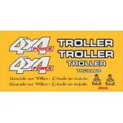 Kit Adesivos Resinados Troller Rf Sport 1997 Amarelo