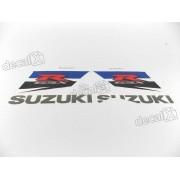 Kit Adesivos Suzuki Gsxr 1000 2011 Branca E Azul 10011ab