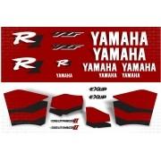 Kit Adesivos Yamaha R1 2000 Vermelha R100ve