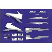 Kit Adesivos Yamaha R6 2005 Azul R605az