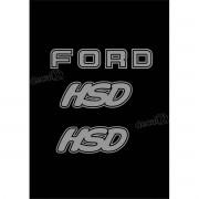 Kit Emblema Adesivo Ford F1000 Hsd Em Prata