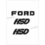 Kit Emblema Adesivo Ford F1000 Hsd Em Preto