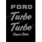 Kit Emblema Adesivo Ford F1000 Turbo Super Série Em Prata