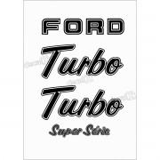 Kit Emblema Adesivo Ford F1000 Turbo Super Série Em Preto