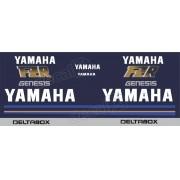 Kit Emblema Adesivo Yamaha Fzr 1000 1990 Azul Hdfzr10002