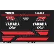 Kit Emblema Adesivo Yamaha Fzr 1000 1990 Preta Hdfzr10001