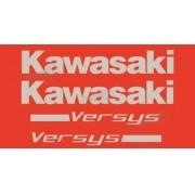 Kit Jogo Faixa Emblema Adesivo Kawasaki Versys 2007