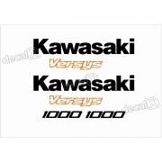 Kit Jogo Faixa Emblema Adesivo Kawasaki Versys Vrs11