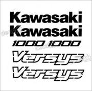 Kit Jogo Faixa Emblema Adesivo Kawasaki Versys Vrs15