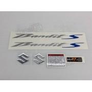 Kit Jogo Faixa Emblema Adesivo Suzuki Bandit 650s 2012 Azul