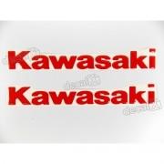 Par Adesivos Kawasaki Resinado Vermelho Re59
