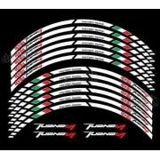 Kit Adesivo Friso Refletivo Roda Moto Aprilia Fri06