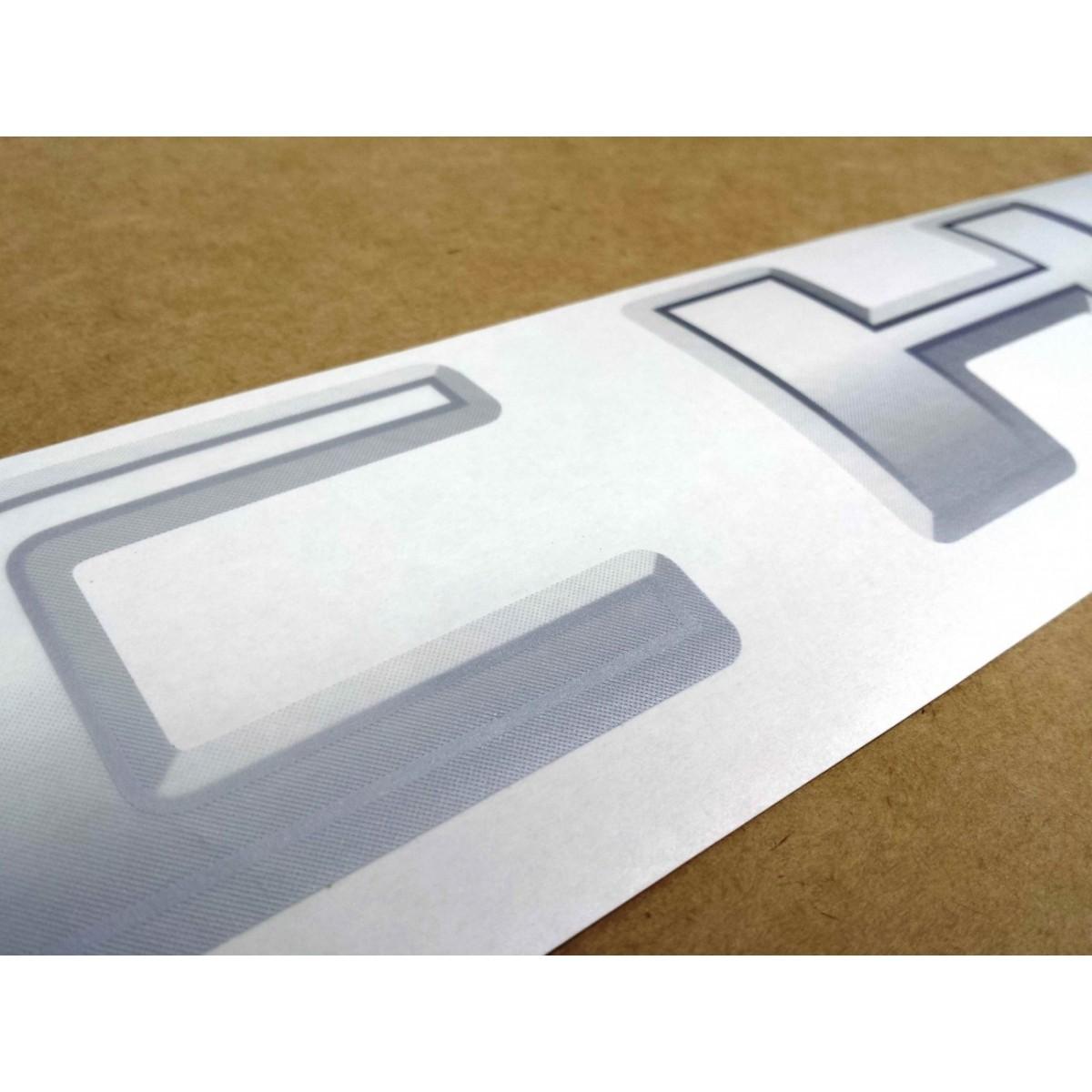 adesivo tampa traseira chevrolet   prata decalx adesivos  motos adesivos automotivos