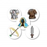 Kit Buttons Itens RPG