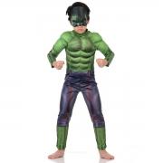 Fantasia Hulk Com Peitoral Infantil - Marvel - Avengers - Abrakadabra