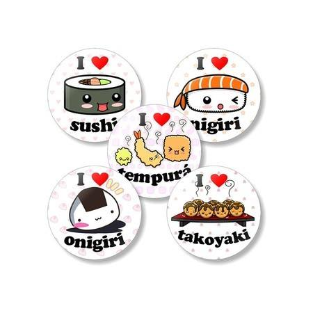 Kit Buttons Comida Japonesa