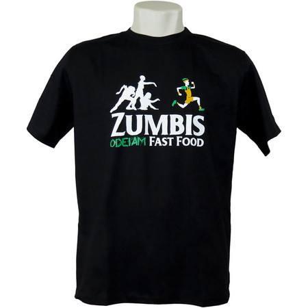 Camiseta Zumbis Odeiam Fast Food