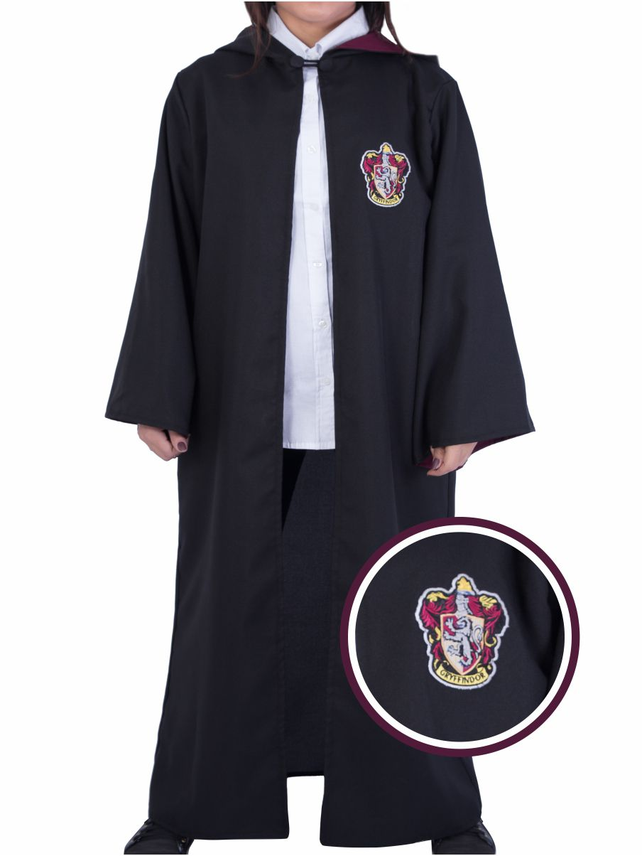 Capa Grifinória - Harry Potter - Cosplay (Fantasia) - Bordado - Manto