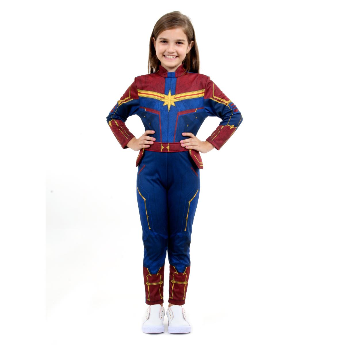 Fantasia Capitã Marvel Infantil Luxo - Captain Marvel - Abrakadabra