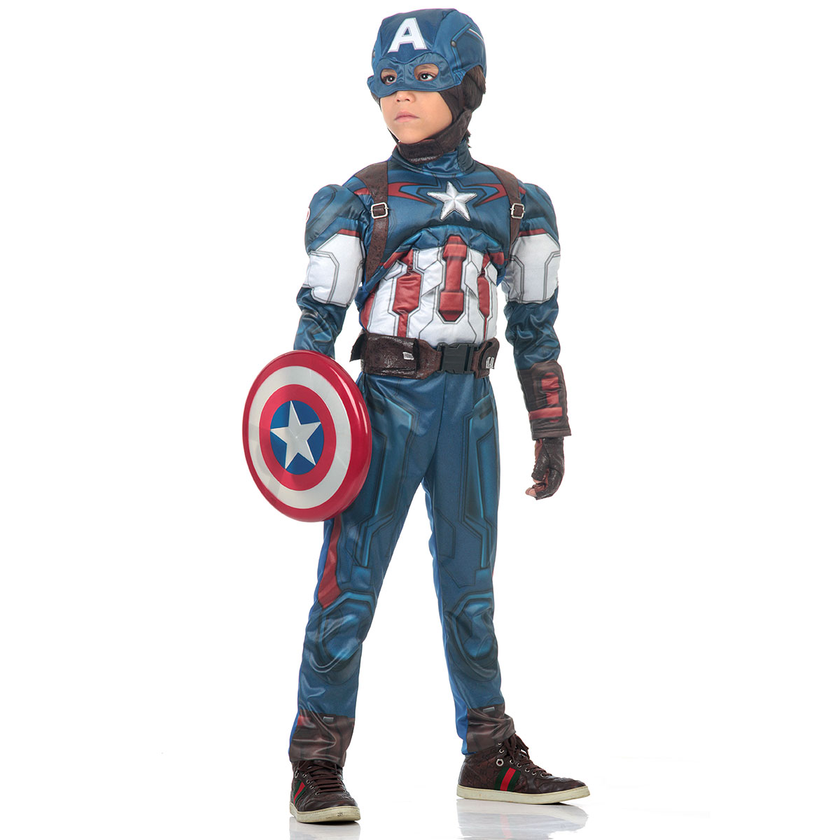 Fantasia Capitão América Infantil Excudo - Avengers - Abrakadabra