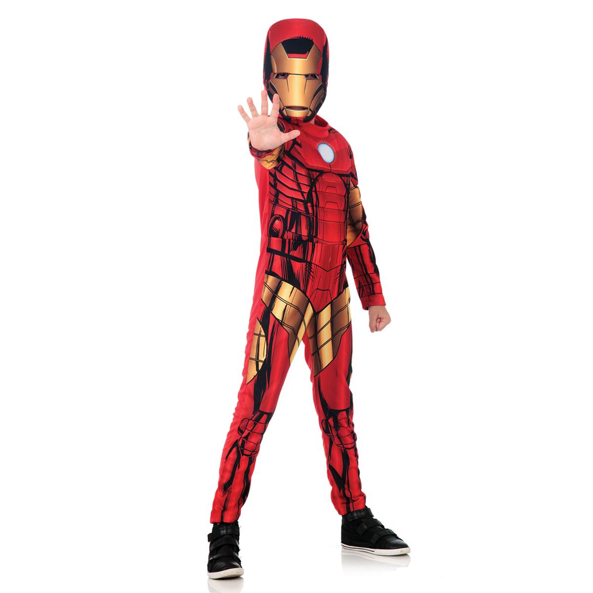 Fantasia Homem De Ferro Curto Infantil - Marvel - Vingadores - Abrakadabra