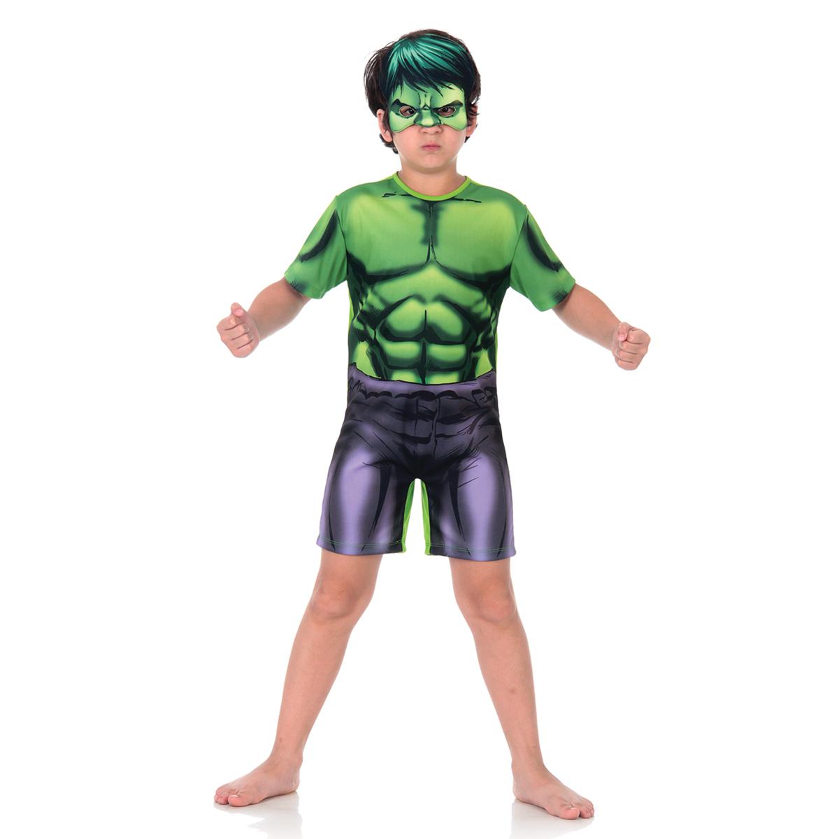 Fantasia Hulk Infantil Curto - Cosplay Marvel Original - Abrakadabra