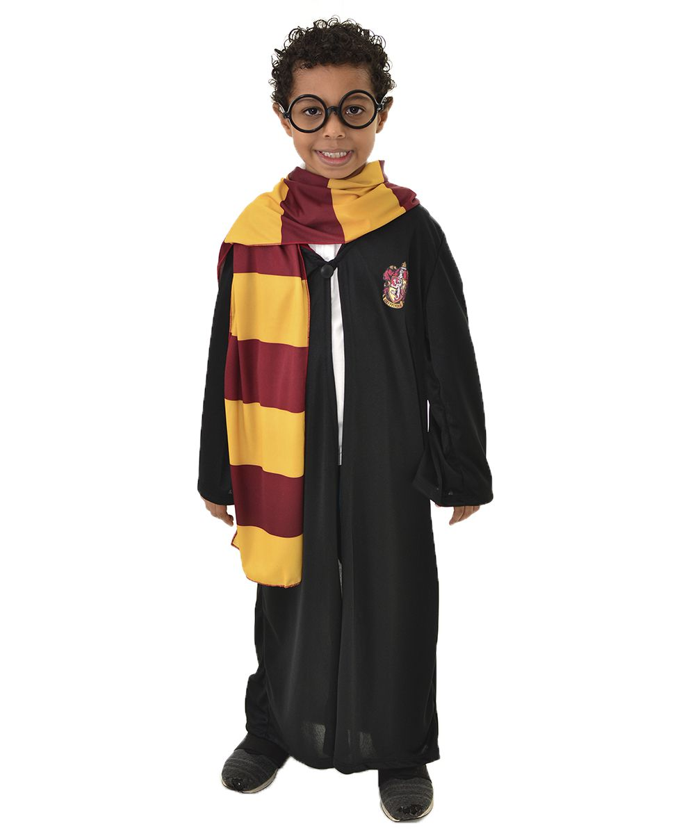 Fantasia Infantil Harry Potter - Cosplay - Capa Grifinória + Cachecol + Óculos