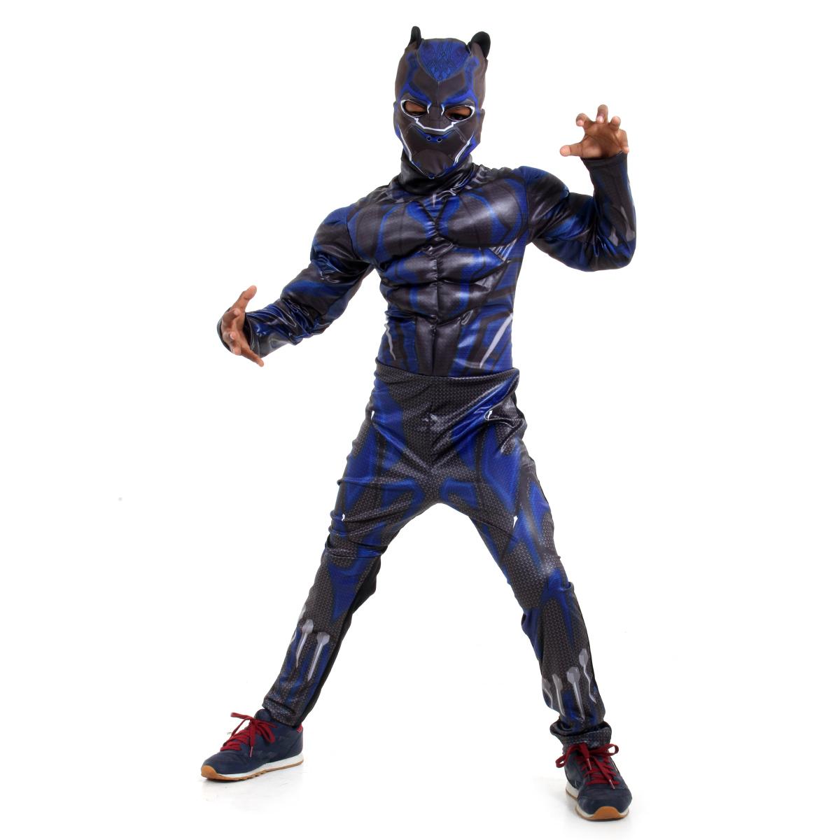 Fantasia Pantera Negra Infantil Luxo - Avengers - Marvel - Abrakadabra