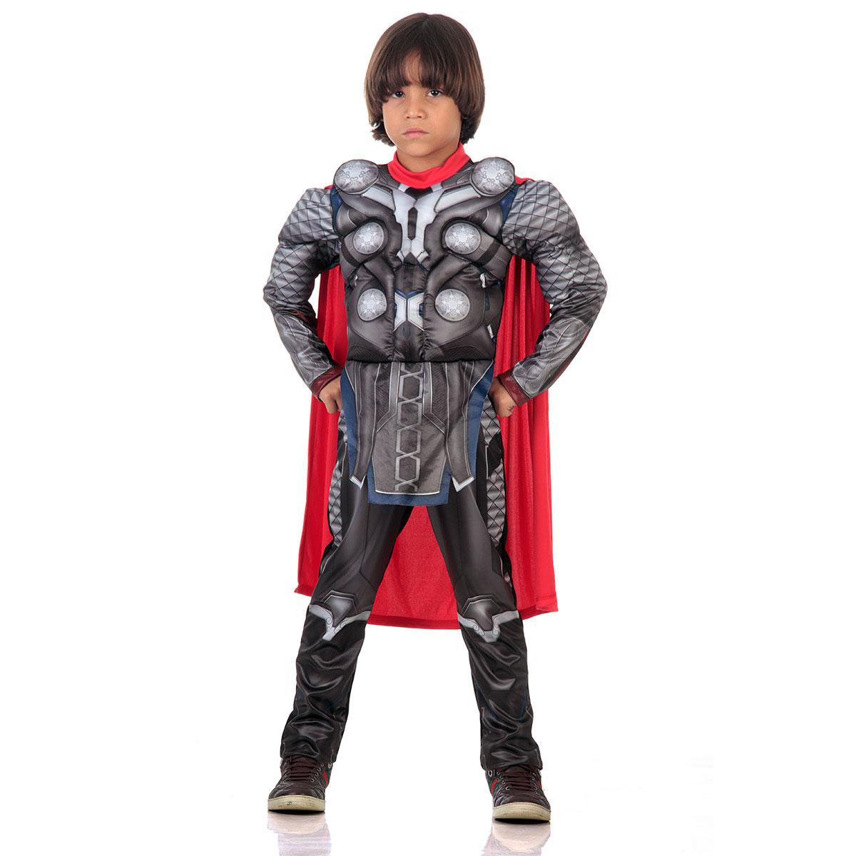 Fantasia Thor Com Peitoral Infantil Luxo - Cosplay Avengers - Abrakadabra
