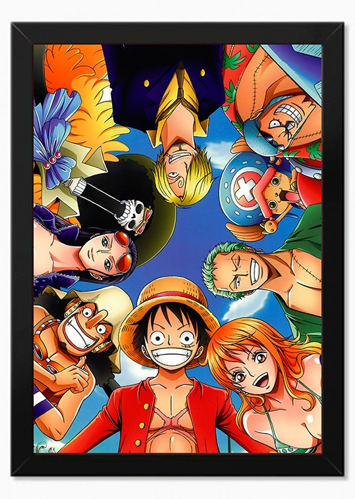 Quadro Frota Chapéu de palha - One Piece