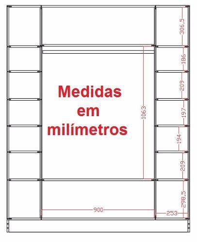 3 Expositor Loja Roupa Closed Colméia Cabideiro F.grátis*