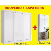 Roupeiro 3p + Sapateira Com Espelho = Promoção + Frete Grát*