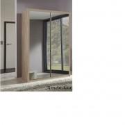 Paneleiro Diamante com portas de espelho de correr Amendoa