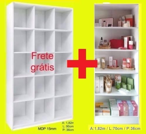 2 Expositor: 1 Colméia B + 1 Armário L Loja Promo+f.grátis